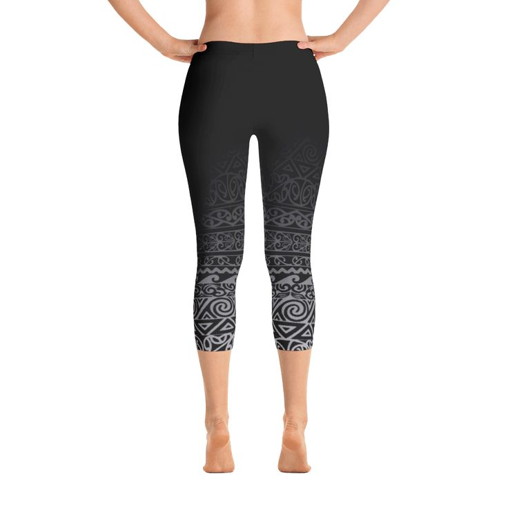 Capri Leggings - Maori Design