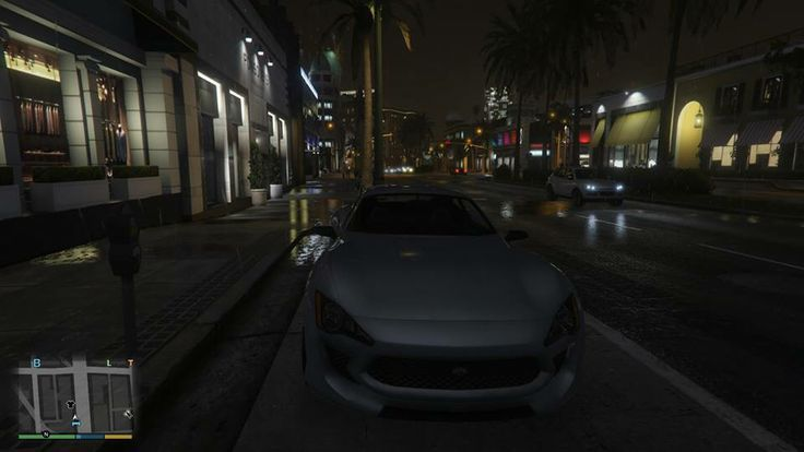 GTA V on PS4. Night Time with a Super Car.
