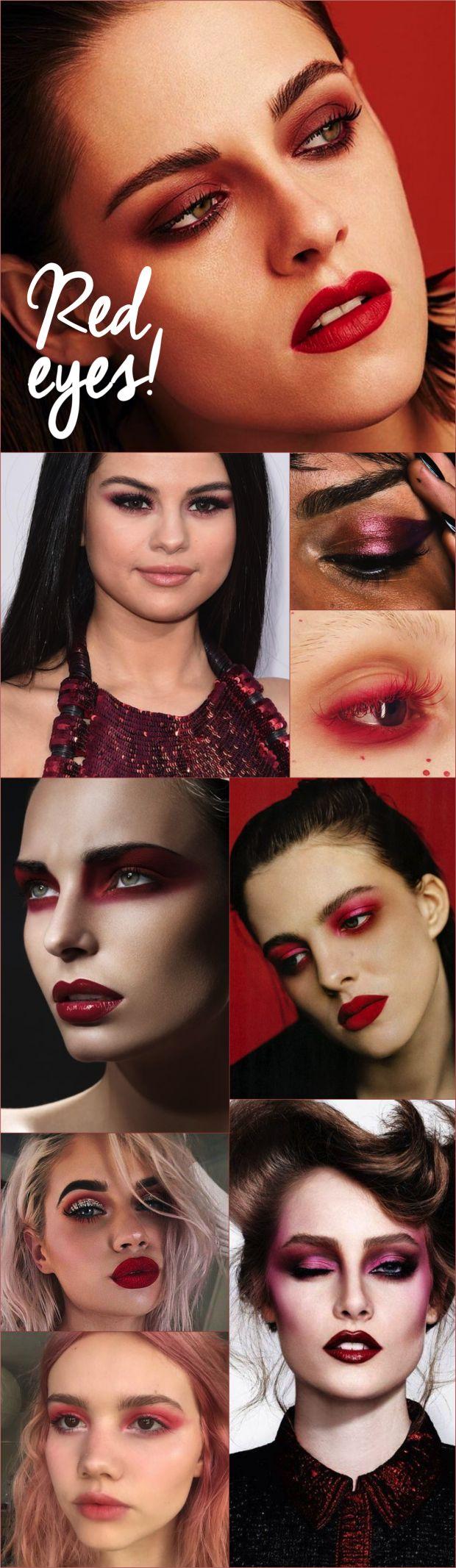 Maquiagem vermelha, tem coragem?