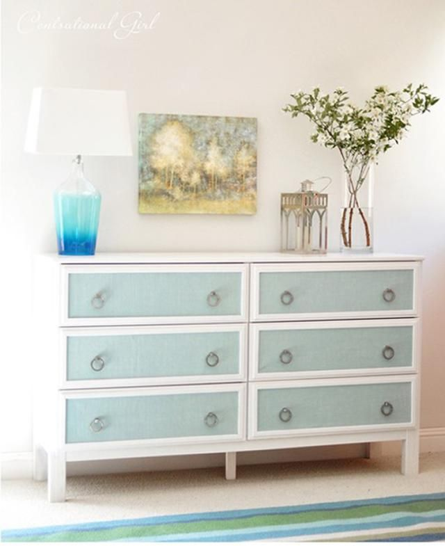 12 Incredible Furniture Makeovers You Need To Pin: DIY Textured Panels Dresser Makeover
