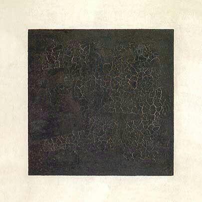 Quadrato nero su fondo bianco.  1915. Tretjakov Gallery