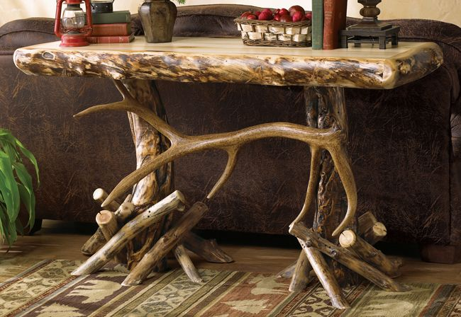 Cool site w/lots of rustic furniture like this table