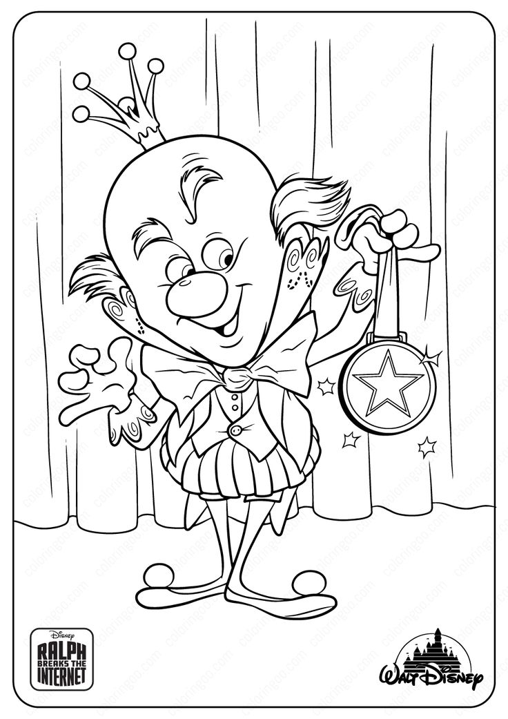 Ralph Breaks The Internet King Candy Coloring Pages in ...