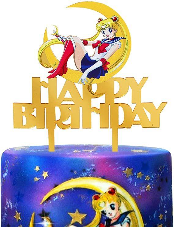 Acrylic Happy Birthday With Stars Acrylic Cake Topper For Birthday Decor 2020