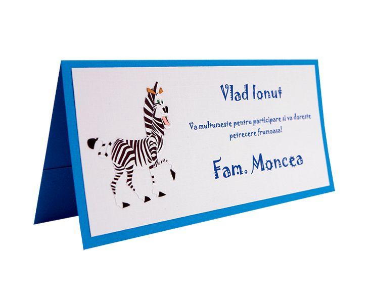 Place Card Botez Madagascar - Marty