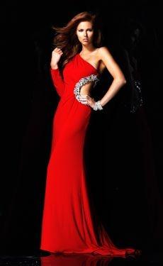 Very cool Sherri Hill.  I love this red. Alyssa Campanella. Miss USA : Prom Dress