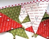 how about, tiny felt bunting to go on the Christmas tree or just to dingle dangle in that Christmas'y way!
