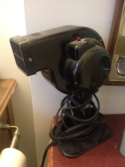 Vintage Wahl Hair Dryer, Black, Great Condition by PaintedLadyAntiques on Etsy