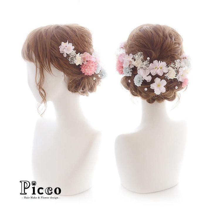『Picco(ピッコ)』さん(@picco.flower)のInstagramアカウント: 「. . Gallery 295 . Order Made Works Original Hair Accessory for SEIJIN-SHIKI . #マム と #小花 と #かすみ草…」