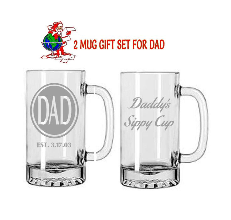 etched glasses,dad gifts,beer glasses,Est Dad Glass,Etched gifts,Christmas gifts,pub glasses,Etched Mugs,unique gifts,Personalized Glass by MileStoneArtworks on Etsy