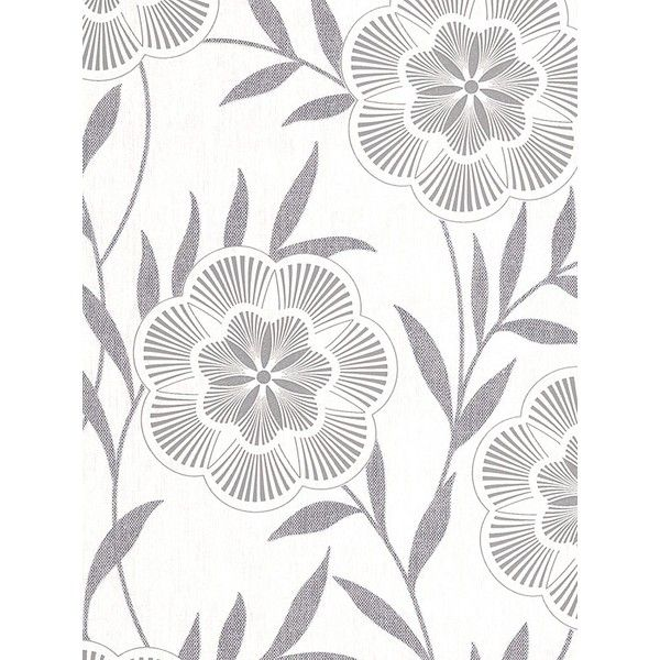 Graham & Brown Sf Easy Flora Grey Wallpaper (394.085 IDR) ❤ liked on Polyvore featuring home, home decor, wallpaper, grey home decor, flower pattern wallpaper, gray textured wallpaper, flowered wallpaper and glitter wallpaper