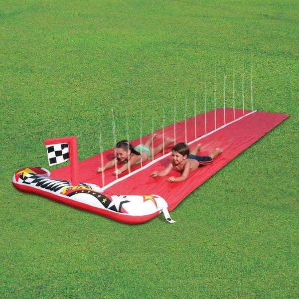Dash 'N' Splash Raceway 16ft Inflatable Water slide wholesale