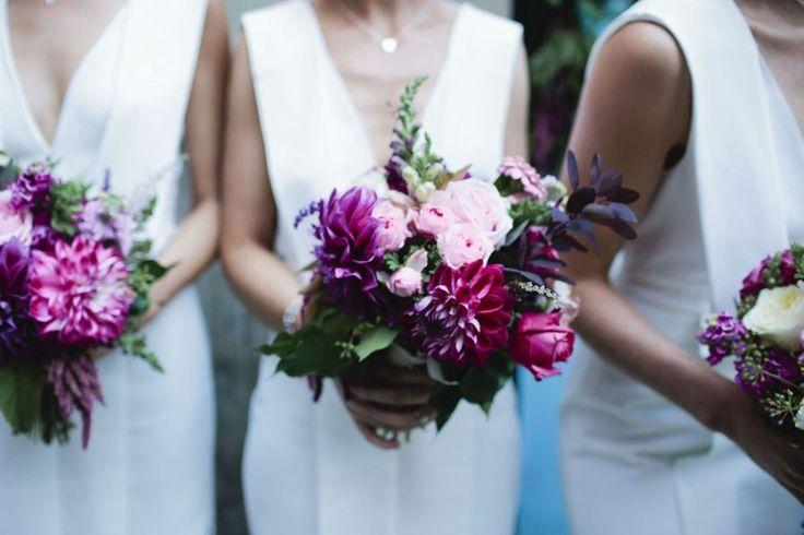modern bridesmaid bouquets