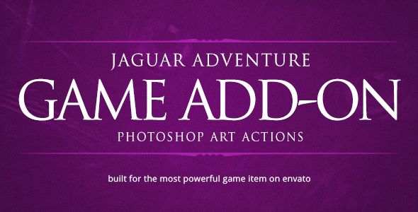 Jaguar Game Engine Addon - Photoshop Art Actions