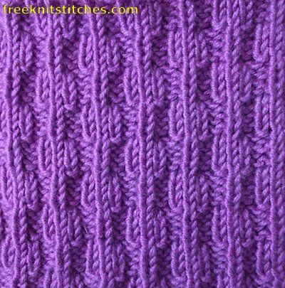 Beads rib knitting stitches