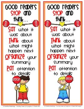 Help your students remember to STOP and think while they read with these colorful bookmarks.Enjoy the file for free!...: Comprehen Bookmarks, Reading Compre, Students Remember, Reading Strategies, Free Bookmarks, Reading Bookmarks, Color Bookmarks Enjoying, Comprehension Bookmarks, Color Bookmarksenjoy