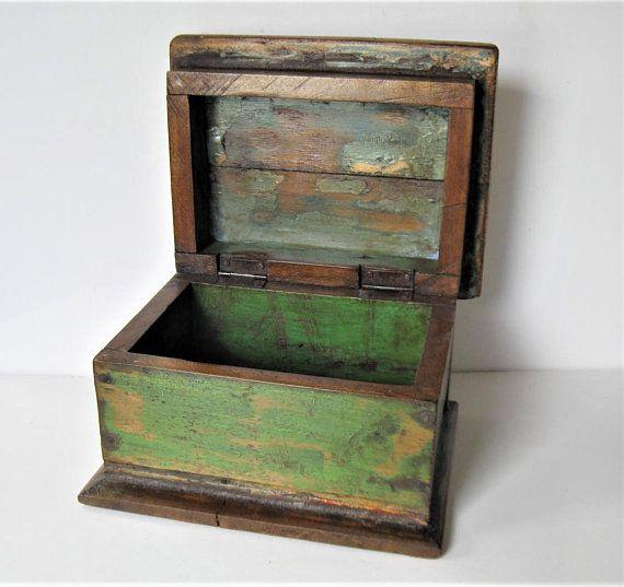 Handmade Wooden Box Wooden  box Vintage wooden box Vintage large wooden box