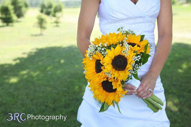 White Flower Bridal Bouquets Wedding Bouquets Sunflowers Sunflowers