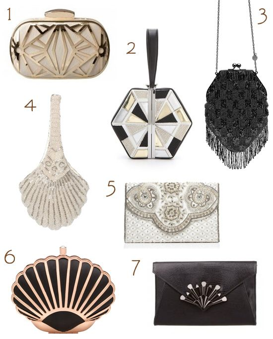 art deco accessories | art deco inspired evening bags Great Gatsby Inspired Wedding ...
