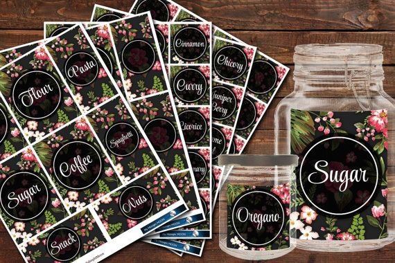 Digital Printabble Kitchen Stickers  Tropical от MyMidnightMoon