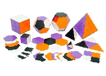 Polydron Maths Class Set New Colours – 184pc