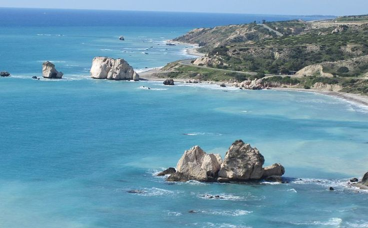 Petra Tou Romiou, the mythical birthplace of Aphrodite, the Greek goddess of love.