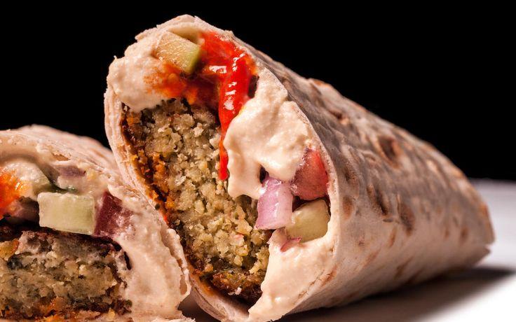 A delicious recipe for falafel lavash wraps.