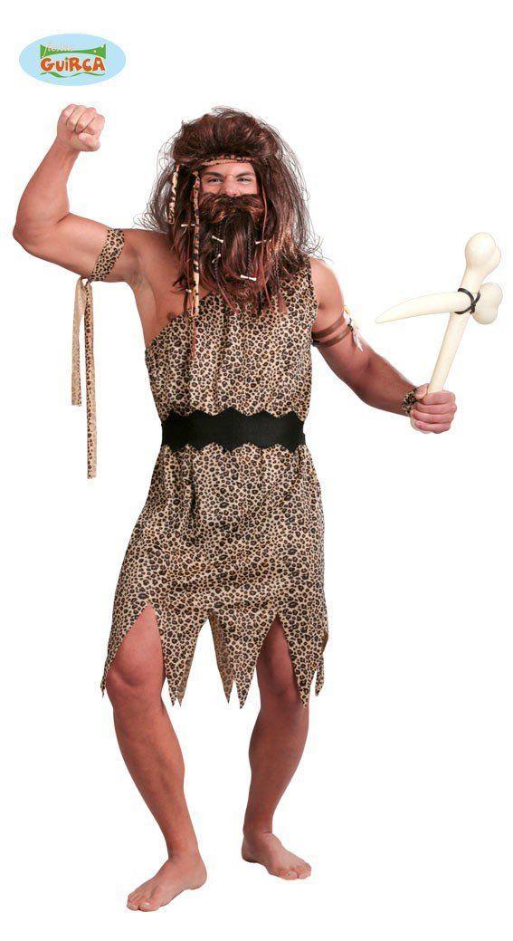 Höhlenmensch Kostüm für Herren Gr. M/L, Größe:M/L