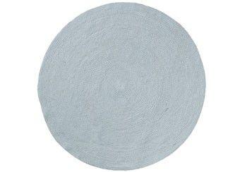 gevlochten jute tapijt 'Sky Blue' (Ø100 cm)