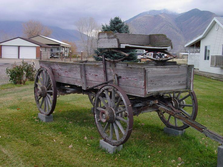 vintage farm wagons   One more old farm wagon.