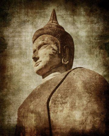 Photographic Art Print Distressed Laos Buddha by TDMillerArtPrints