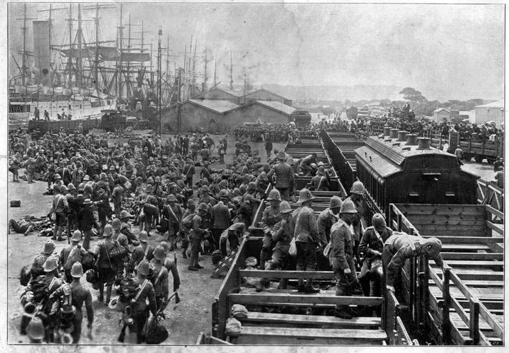British troops landing at Durban 1900