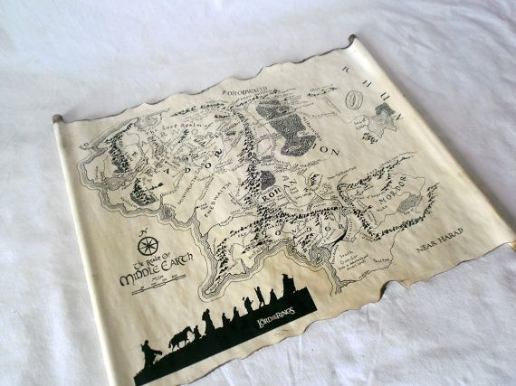 lord of the rings map middle earth map the hobbit by landofscrolls