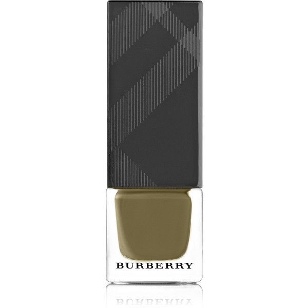 Burberry Beauty Nail Polish - Khaki Green No.204 found on Polyvore featuring beauty products, nail care, nail polish, beauty, nail, green, nail color, nail colour and green nail polish
