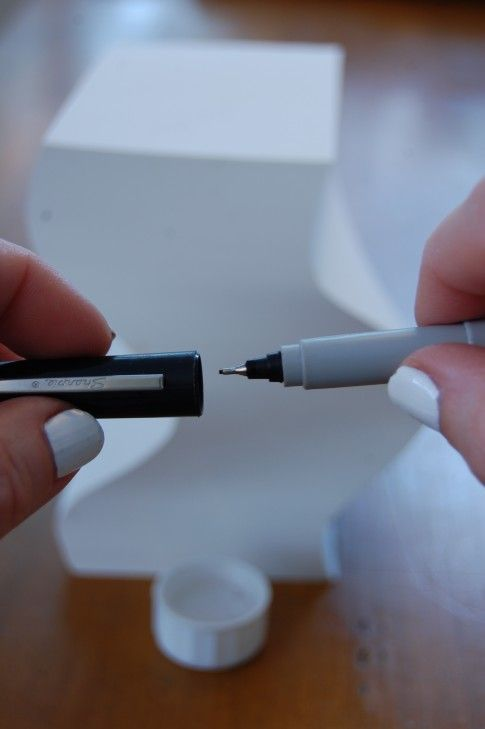 How to Fix a Dried Out Sharpie___  1. Grabbed a bottle of Rubbing Alcohol.  2. Poured some into the cap.  3. Dipped the tip of the Sharpie into the cap filled with Rubbing Alcohol.  4. Let sit until you can see a bit of ink swirling out.  5. Put cap back on the Sharpie and leave it for 15+ minutes.  6. Use you Sharpie!  (Note: won't work for all markers.)