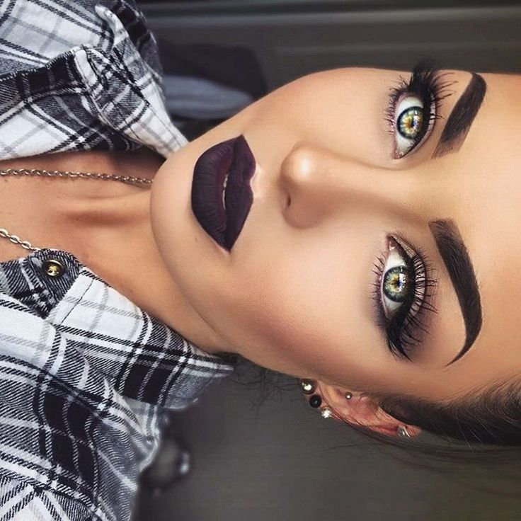 "@emzeloid on Instagram: ""@anastasiabeverlyhills 'potion' has to be one of the most wearable dark lips around ✨ Also wearing: @kokolashes '201's @muacosmetics 'romantic efflorescence' palette ABH ebony dipbrow and powder contour @revlon colorstay foundation in 'natural tan.' Also used the 'hollow' filter from @afterlight, love this filter! Really makes my contour look more defined and my eye colour pop """