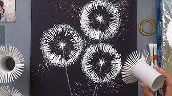 (37) Toilet Paper Rolls Dandelion Painting Techniq…