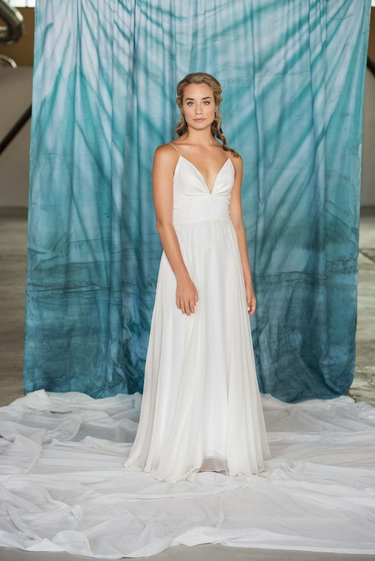 Cool Pure Magnolia us Sophia is a silk chiffon wedding dress lined in organic cotton