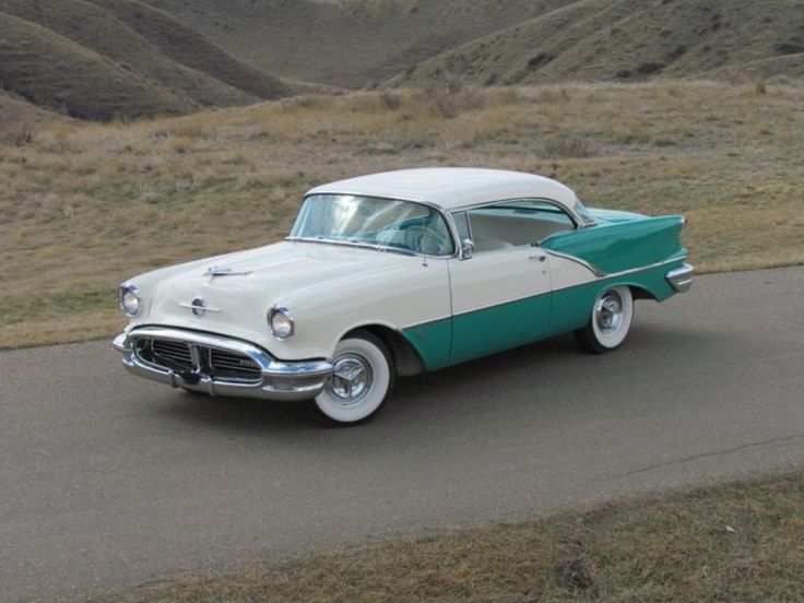 1957 Oldsmobile Holiday 88 324 V8 Sea Foam green and white ...