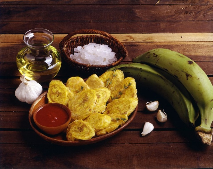 Traditional fried plantains known as tostones in D.R.