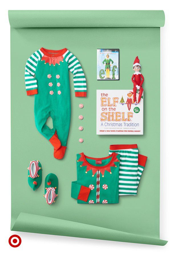 Elevate your elf lover's gift with slippers, pajamas, Elf DVD & Elf on the Shelf.