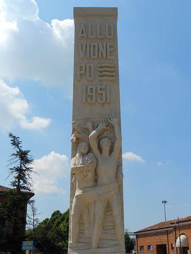 alluvione Po 1951, Virgilio Milani, stazione di Rovigo - Province of Rovigo, Veneto region Italy