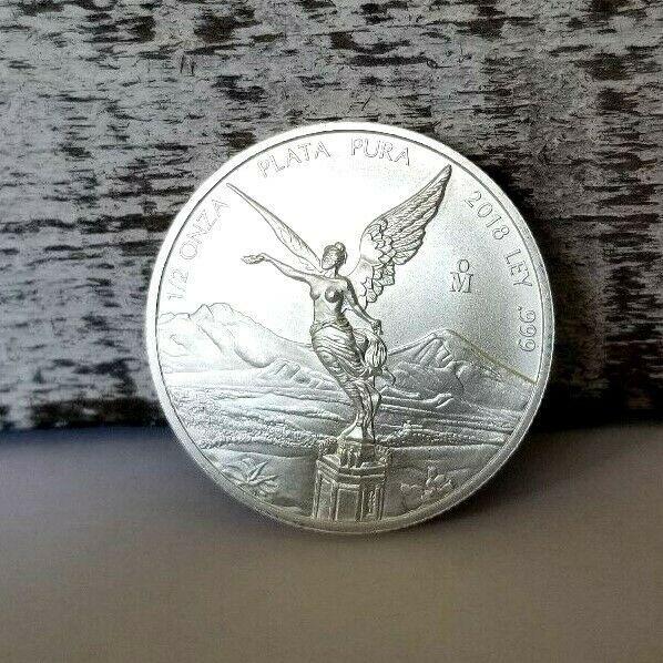 2018 Mexican Libertad Silver Coin 1 2 Oz Silver Coins Libertad Mint Bag