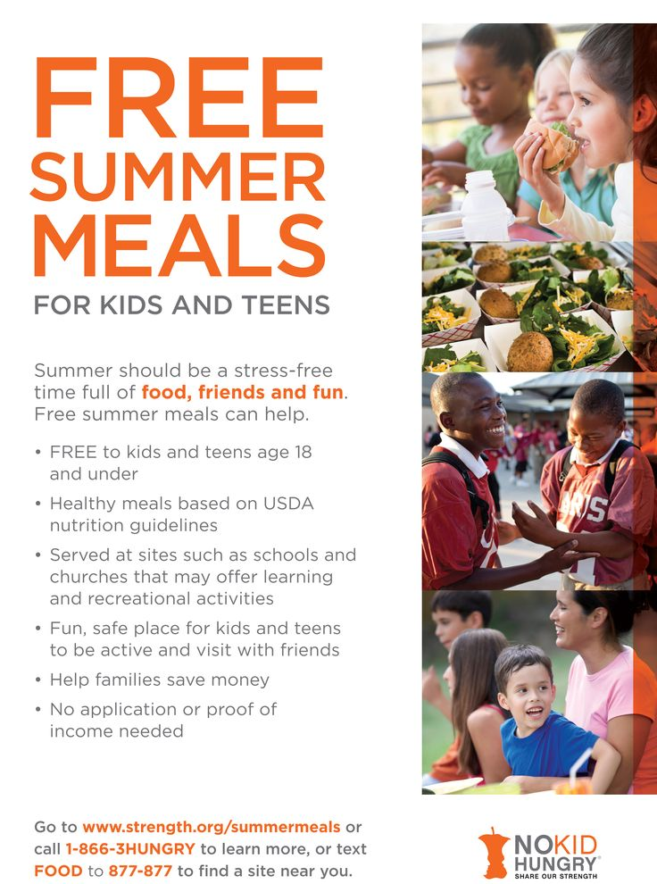 Distribute Summer Meals Flyers in your community. Hunger