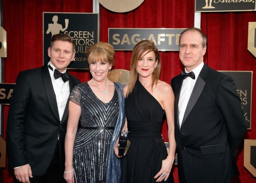 Downton Abbey Actors Allen Leech, Phyllis Logan, Raquel Cassidy, and Kevin Doyle attend the 22nd Annual Screen Actors Guild Awards at The Shrine Auditorium on January 30, 2016..