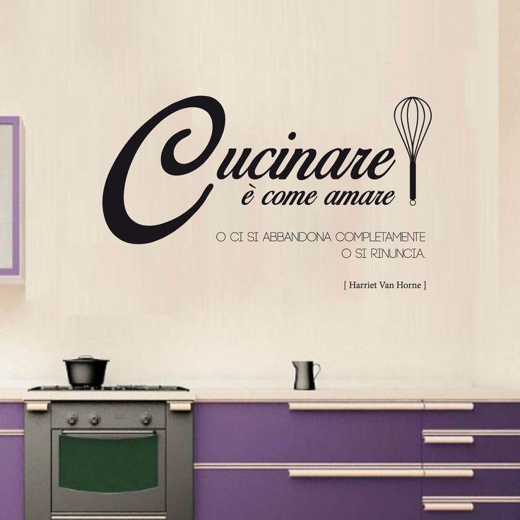 Per amanti della cucina! https://www.adesiviamo.it/prodotto/1117/Adesivi-da-parete/Adesivi-da-parete/Harriet-Van-Horne---Cucinare--come-amare---Wall-Sticker---Adesivo-da-Muro.html