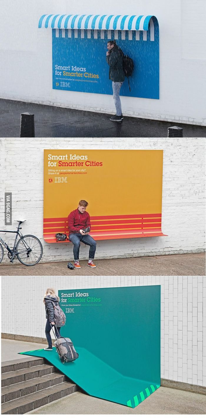 IBM turns its ads into furniture #unconventional #ambient