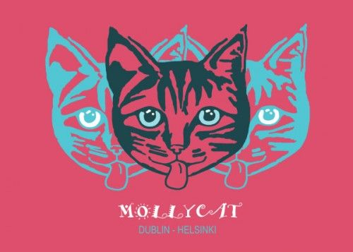 'MOLLYCAT Helsinki - Dublin' - metal print by Displate/Alan Hogan #displate #metalprints #nagohnala #art #graphics #popular #instagood #style #swag #fashion #pretty #instacool #instamood #iphonesia #fashionista #picoftheday #beauty #likeback #shopping #fresh #twelveskip #iphonesia #instamood #picoftheday #bestoftheday #pinteresthub #instacool #me #pop #typography #mollycat #pink #cats #cat #feline #cheeky #cute #dublin #helsinki #catseyes #funky #heads #pets #domestic #animals