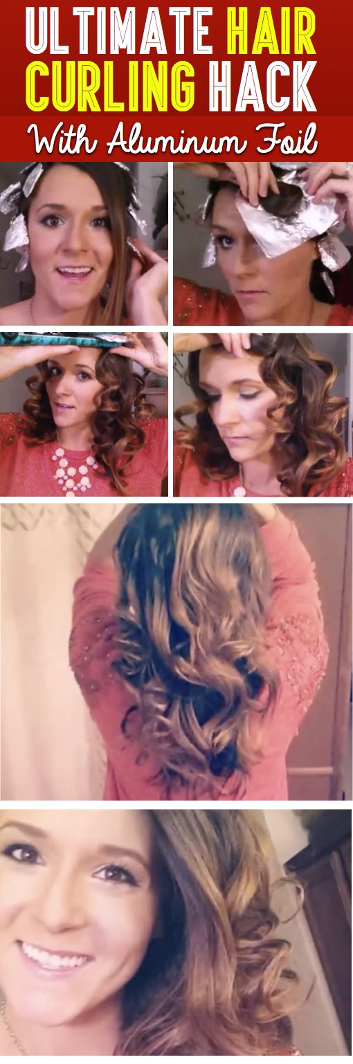 Ultimate Hair Curling Hack With Aluminum Foil - You Won't Believe Your Eyes!   Here you will find an easy and efficient way to curl your hair using aluminum foil!