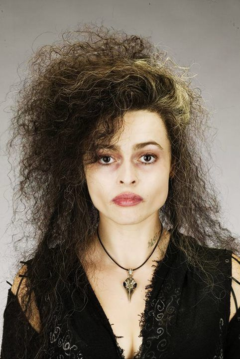 Bellatrix LeStrange- this picture shows the white streak in her hair the clearest. Important character detail.